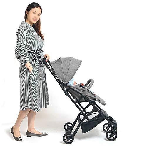 Poussette Canne Avion-Poussette Canne Ultra compacte Pliable Landau bébé - Assise Haute - Siège inclinable - Pliable à Une Main - du bébé à l'enfant