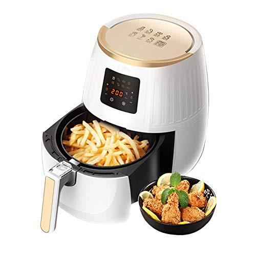TRYSHA Air Fryer, 3.2L grote capaciteit Touch Screen thermo Digital lucht Fryer Oven, geen olie pan, met 6 Koken presets en recepten, Afneembare non-stick Basket 1500W olievrije friteuse