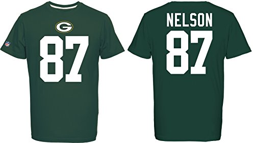 Majestic Packers Nelson 87 T-Shirt, Verde, M Uomo