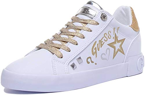 Guess Damen Sneaker Sneaker Größe 39 EU Weiß (Weiss)