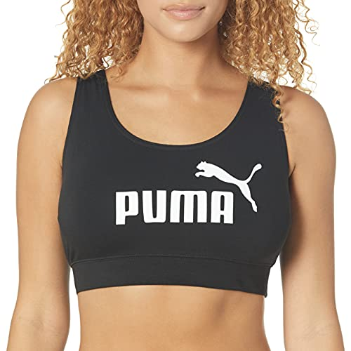 PUMA Women's Essentials Bra Top, Black, Medium