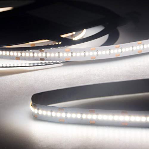 Preisvergleich Produktbild LED Strip Streifen Band InnoPro 2.0 - Homogen - 5 Meter Linear 24 Volt CRI 90 IP20 Stripes Leiste Lichtleiste Bänder von INNOVATE® (neutralweiß 20 W / m - 240 LED / m 1498 lm / m)
