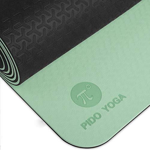 Pido Yoga Mat - 1/4 & 1/3 Inch Extra Thick Non Slip Yoga Mat for Women & Men Eco Friendly...