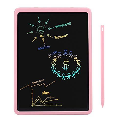 Bureau-onderlegger, 11-inch flexibele LCD-druksensor-bureau-onderlegger knoopbatterij-voeding, schrijfblad LCD voor kinderen, geen stralingstabletten voor kinderen, roze