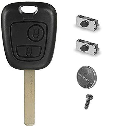 CLE PLIP Peugeot 107 207 307 407 106 206 306 406 KIT + 2 Switch Coque TELECOMMANDE @Pro-Plip