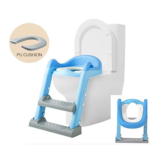 WZCMSL Anti-slip Stap Brede Kruk Ladder Peuter Toiletstoel voor Meisjes, Kinderen, Jongens, Potty Trainingsstoel met Verstelbare Ladder