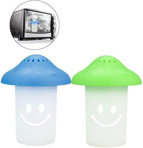 RUONIA 2 STKS Magnetronreiniger, Magnetron Oven Stoomreiniger Voeg Azijn en Water toe voor thuis of op kantoor Keuken, Stoom desinfecteert en reinigt Ruw voor Magnetron en Oven Gemakkelijk (Groen + Blauw)