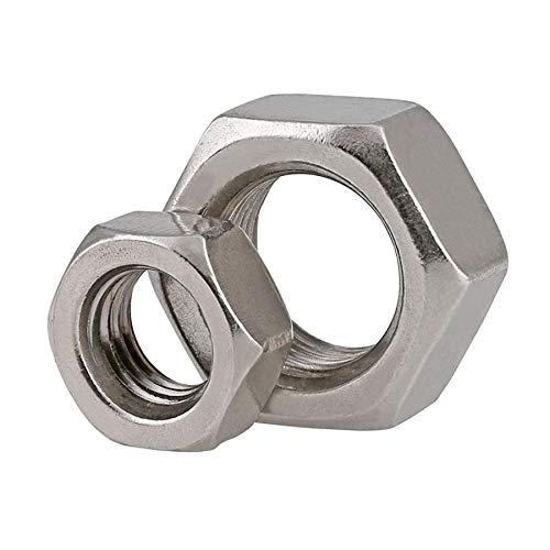 1-20pcs DIN934 304 Tuerca hexagonal de acero inoxidable Hilo de tono fino tuerca hexagonal M6 M8 M10 M12 M14 M16 M18 M20 M22 M24 DUO ER (Size : M24 x 2.0(1piece))