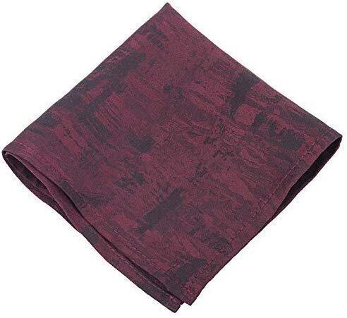 Udol Papillon Formale Modo del Legame Vino Semplice Moda Selvaggia Uomini Europei e Americani di Red Sciarpe Cravatta Gradiente Papillon Pre-Annodato Regolabile (Color : Wine Red Pocket Towel)