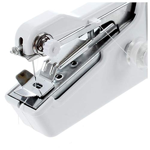 Small Best Mini Home Travel Desk Portable Sew Quick Hand-held Needle Clothes Sewing Machine-White-