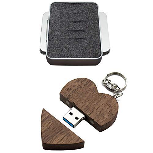 FeliSun Cuore in legno personalizzato USB3.0 Flash Drive Pendrive 128GB 64 GB 32 GB 16 GB ad alta velocità U Disk Memory Stick Storage esterno Fotografia Regali di nozze