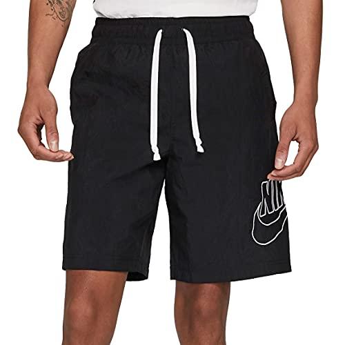 Nike Sportswear Alumni - Pantalones cortos tejidos para hombre DB3810-010, Negro, Small