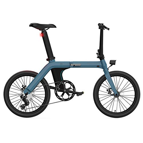 Metyere Electric Bike 250W Folding City Ebike FIIDO 11.6AH Battery with LCD Display Inflatable Rubber Tire Suitable for Adults and Teenagers
