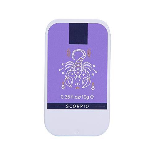 Bálsamo de perfume sólido unisex, fragancia ligera Bálsamo fragante sólido portátil de larga duración 10 g, ingredientes naturales - Bálsamo de perfume de bolsillo de tamaño de viaje(01)