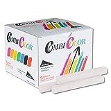 Wiemann Lehrmittel Tafelkreide bunt oder weiß, 100 Stück im Karton, staubfrei (Weiß)