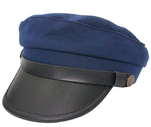 Roffatide Unisex volwassen Chauffeur kostuum Driver Cap Cosplay Officer Fiddler hoed