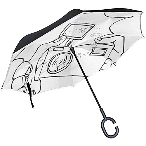 ETGeed Reverse Umbrella Camera Ausmalbilder Inverted Umbrella Reversible