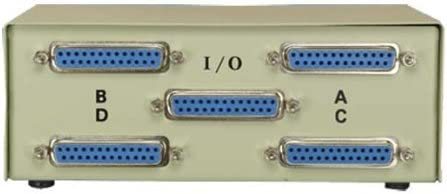 SF Cable New Orleans Mall 4-Way DB25 Female ABCD Switch Cheap mail order sales Straight Box Thru