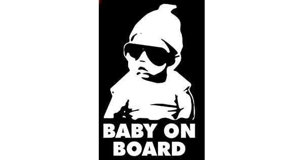 Baby on Board Carlos Hangover funny car vinyl sticker decal vinyl bumper sticker 8 X 5 In Keen Commodities Keen13
