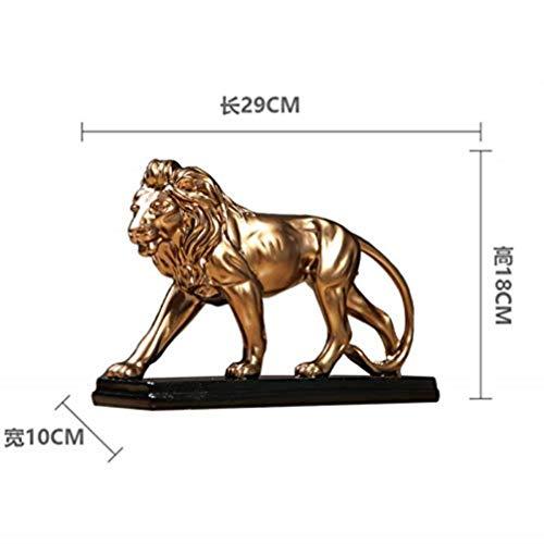 Esculturas Adornos Estatuilla, Hogar Estilo Nórdico Vinoteca Oficina León Regalo Lion One