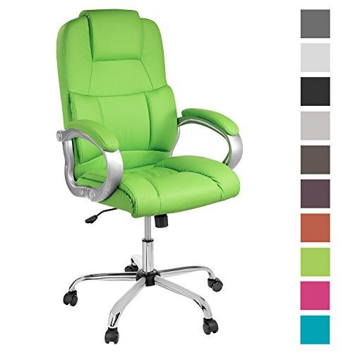 TPFLiving XXL Bürostuhl Chefsessel Denver Grün Belastbar bis 210kg Kunstleder
