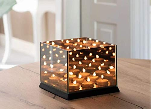 Ecova Infinity Candle - Mirror Candle Holder Tray - 3 x 3