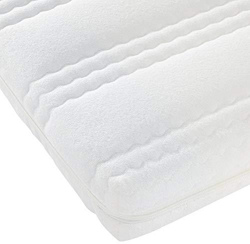Best For Kids Kinderbett-Matratze Kesja 60x120x10 cm bis 90x200x14 cm, Qualität nach Ökotex 100 - Standard und TÜV Gesteppte und Weiche Kindermatratze aus Frottee (90x200x14 cm)