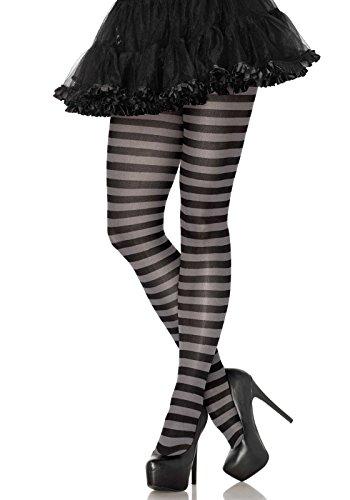 Leg Avenue Women's Hosiery, Black/Grey, One Size