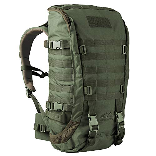Wisport Backpacker Backpacking Rucksack groß Damen Herren + inkl. E-Book | Work and Travel Backpack für Mädchen Jungen | Traveller Pack | Cordoba | Camo | Zipperfox 40L Olive Green