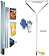 Crystal Blue Lake and Pond Weed Cutter - Includes Blade Sharpener and Safety Gloves, Not Intended for Cattail Removal