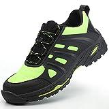 LBWNB Unisex Zapatillas De Seguridad Seguridad De Acero Ligeras Calzado De Trabajo para Comodas Cómodas Ultraligero & Transpirables para Trabajo Y Senderismo,Azul,45