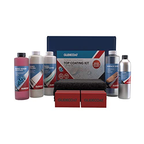 Glidecoat Marine Ceramic Top Coating Kit to Prep and Coat Up to a 30ft Boat! Easy Application, Ultimate Protection!