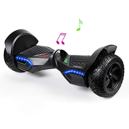 """JOLEGE 8.5"""" Hoverboard, Self Balancing Two Wheel Smart All-Terrain Hoverboards with LED Light - Hover Board for Kids"""