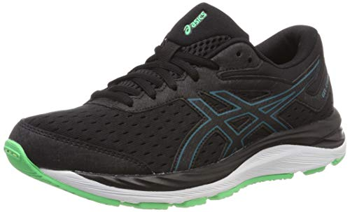 Asics Gel-Cumulus 20 GS, Zapatillas de Running Unisex Adulto, Negro (Black/Beryl Green 001), 39 EU
