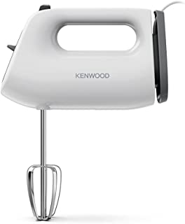 Kenwood QuickMix Lite, Lightweight Hand Mixer Twin Beaters with Slow Speed Start, SureEject Tool, Cord Wrap, HMP10.00WH, 3...