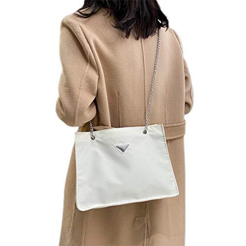 OKAYOU バッグファッションチェーンバッグショルダーポータブルメッセンジャーバッグ大容量横型スクエアスタイルハンドバッグレディース用
