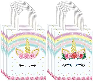Bags Unicorn Gift Party Paper Bags with Handle for Birthday Baby Shower Wedding Theme Party Decorations Supplies - 20PCS