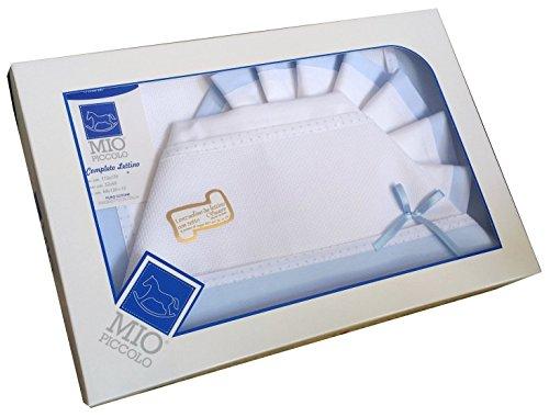 Bettwäsche-Set für Kinderbett 3-Teile Aida-Stoff himmelblau