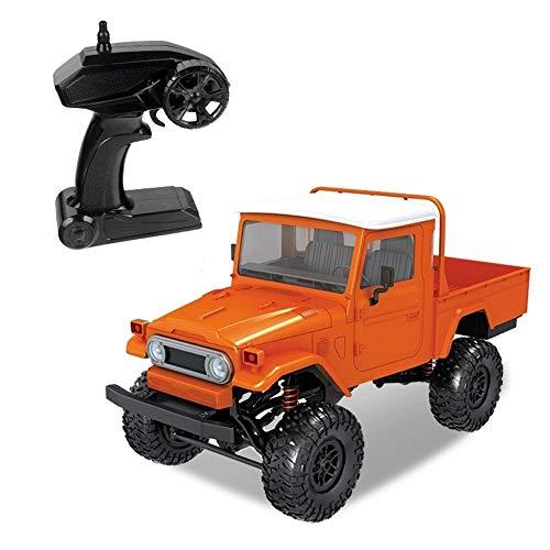 Tastak 1:12 RC Car 2,4 GHz Funk-Fernbedienung Military Truck 4WD Off Road Wüste Armee Auto wiederaufladbare High Speed Elektro-Rennwagen Buggy Hobby-Auto for Kind-Jungen Erwachsene (Color : Orange)