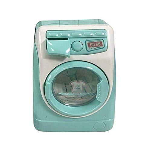 Vektenxi Kinder/Baby Mini Waschmaschine Spielzeug Haushaltsgerät Spielzeug Batteriebetrieben mit drehbarer Walze, Mint Green Hohe Qualität
