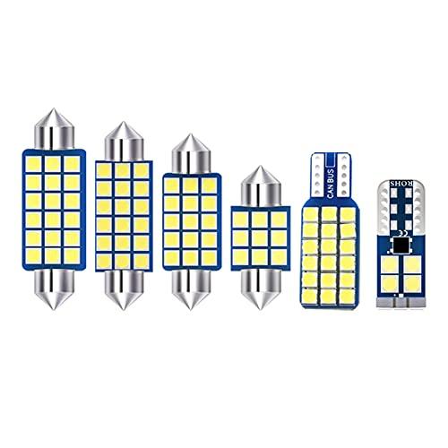 CarWorld para Kia Sorento XM 2009 2010 2011 2012, 6 uds 12v Bombillas LED de Coche Interior Domo lámpara de Lectura Maletero tocador Luces de Espejo Accesorios