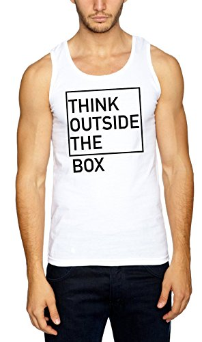 Think Outside The Box Débardeur Blanc-L