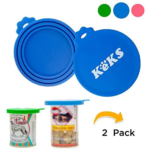 Purchase KEKS Pet Can Covers Blue - 2 Pack - BPA Free, Food Grade Silicone Covers - Multisize Pet Fo...