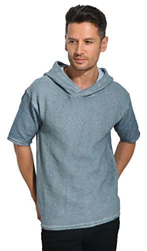 Black Kaviar Herren Skidmore Sweatshirt, Blau (Schiefer), L