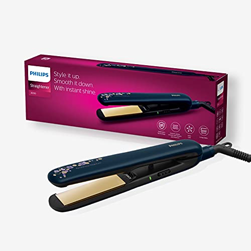 Philips BHS397/40 Kerashine Titanium Straightener with SilkProtect Technology. Straighten, curl with instant shine.