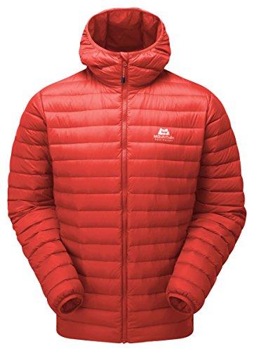Mountain Equipment M Arete Hooded Jacket Rot, Herren Daunen Freizeitjacke, Größe S - Farbe Cardinal Orange
