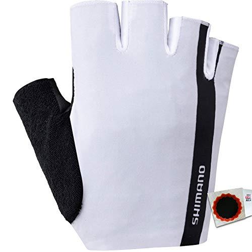 SHIMANO Value Handschuhe XXL Weiss Fahrrad