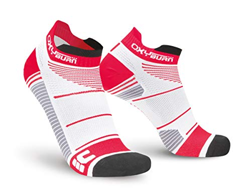 Oxyburn Run Evospeed Light-Low-Cut M Chaussettes Homme, White/Cardio, Size 39/41