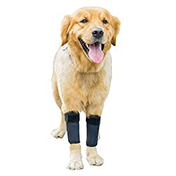 GNIKS Dog Front Leg Wrap Protects Brace Pets Joint Hock Paw Compression Wraps for Protects Wounds Brace Heals and Prevents Injuries and Sprains