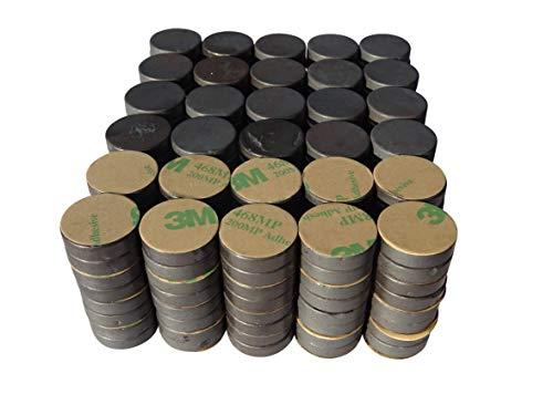 240 Stück selbstklebende Keramik-Magnete 20x5mm - Ferrit Bastelmagnete in Industriequalität - Magnete für Magnettafel, Kühlschrank, Werkstatt uvm. – Packungsgrößen: 60/120/240 Stück
